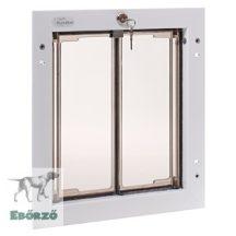 """PlexiDor® """"M"""" méretű ajtóba építhető - Fehér színű"""