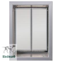"""PlexiDor® """"XL"""" méretű falba építhető - Ezüst színű"""