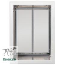 """PlexiDor® """"XL"""" méretű falba építhető - Fehér színű"""