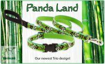 Panda Land 36-51 cm fékfojtó nyakörv 122 cm pórázzal (1,9 cm széles)