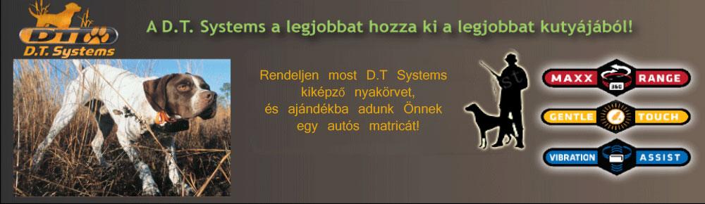 D.T. Systems elektronikus kiképző nyakörvek