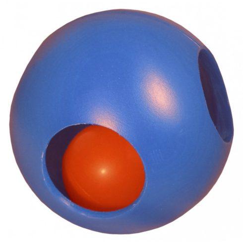 Soft-Flex Pawzzle Ball lyukacsos labda - kék (M méret)