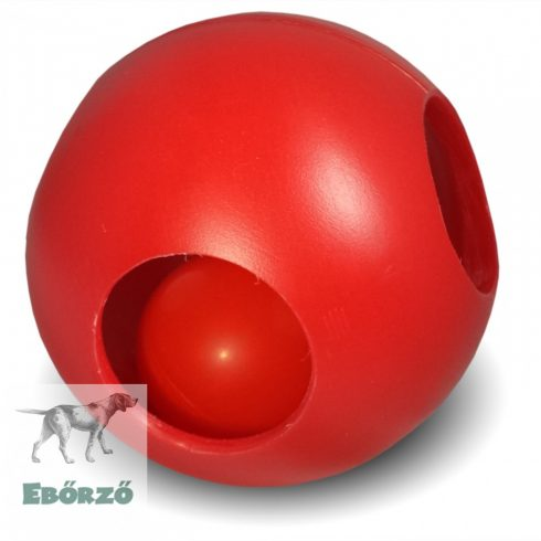Soft-Flex Pawzzle Ball lyukacsos labda piros (M méret)