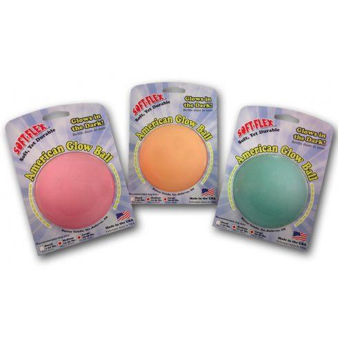 Soft-Flex világítós labda (menta zöld) - Glow Ball 9 cm