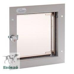 """PlexiDor® """"S"""" méretű ajtóba építhető - Ezüst színű"""