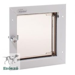 """PlexiDor® """"S"""" méretű ajtóba építhető - Fehér színű"""