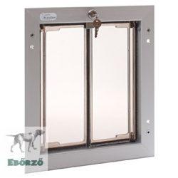 """PlexiDor® """"M"""" méretű ajtóba építhető - Ezüst színű"""