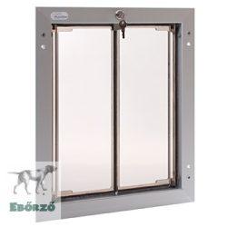 """PlexiDor® """"L"""" méretű ajtóba építhető - Ezüst színű"""