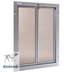 """PlexiDor® """"XL"""" méretű ajtóba építhető - Ezüst színű"""