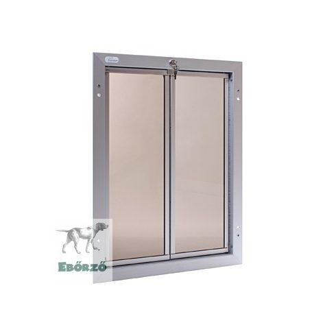 """PlexiDor® """"XL"""" méretű ajtóba építhető kutyaajtók - Ezüst színű"""