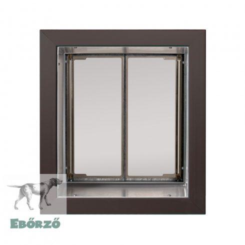 """PlexiDor® """"M"""" méretű falba építhető kutyaajtó - Bronz színű"""