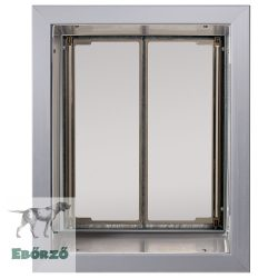 """PlexiDor® """"L"""" méretű falba építhető - Ezüst színű"""