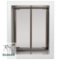 """PlexiDor® """"L"""" méretű falba építhető - Fehér színű"""