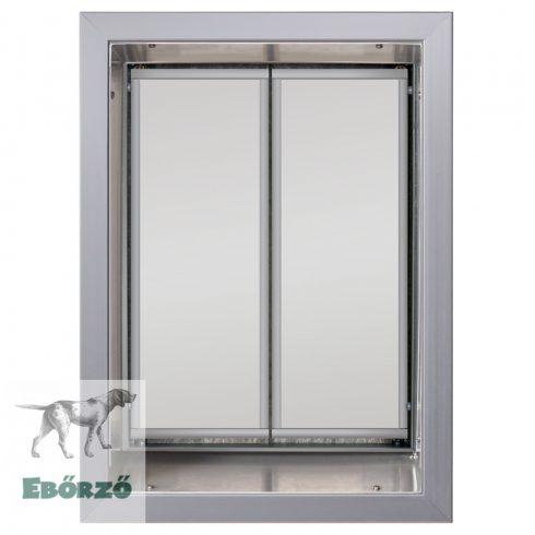 """PlexiDor® """"XL"""" méretű falba építhető kutyaajtó - Ezüst színű"""