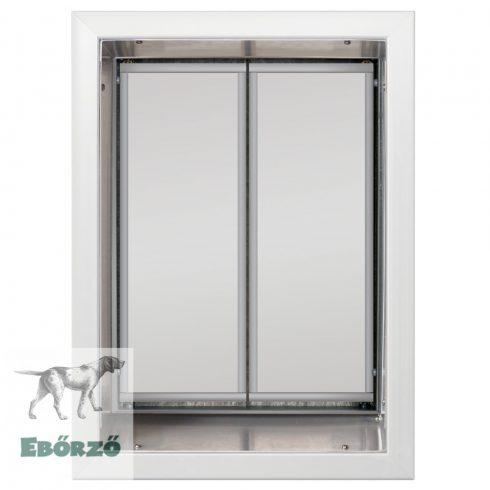 """PlexiDor® """"XL"""" méretű falba építhető kutyaajtók - Fehér színű"""