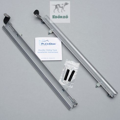 """PlexiDor® Sínpár """"XL"""" méretű kutyaajtóhoz - Ezüst"""