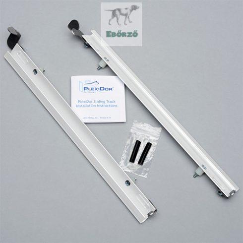 """PlexiDor® Sínpár """"XL"""" méretű kutyaajtóhoz - Fehér"""