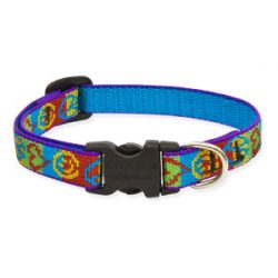 Lupine Original Collection Peace Pup Adjustable Collar 1,25 cm width 21-30 cm -  For Small Dogs